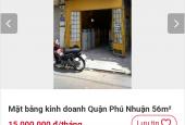 Cho thuê nguyên căn nhà mặt tiền Nguyễn Kiệm PN giá12 tr/ th