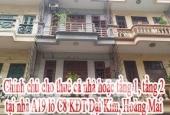 Chính chủ cho thuê cả nhà hoặc tầng 1, tầng 2 tại A19 Lô C8 Khu đô Thị Đại Kim, Hoàng Mai, Hà Nội