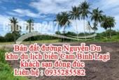 Bán đất đường Nguyễn Du , khu du lịch biển Cam Bình Lagi, khách sạn đông đúc.