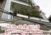 Cần bán nhà đất chính chủ tại Phú Lương, quận Hà Đông, Hà Nội (đối diện trường tiểu học Phú Lương 2 )