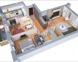 10 mẫu căn hộ 70m2, thiết kế 2 phòng ngủ dễ ứng dụng ở Việt Nam