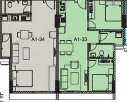 Cải tạo căn hộ có diện tích 98m2 từ 2 căn hộ liền kề