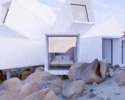 Ngắm nhìn nhà nghỉ container giữa sa mạc
