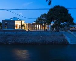 Ngôi nhà với sự kết hợp của vườn cây và ao cá