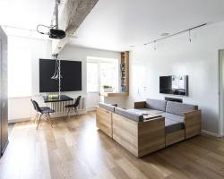 Sử dụng nội thất đa năng cho căn hộ 80m2 cực thông thoáng