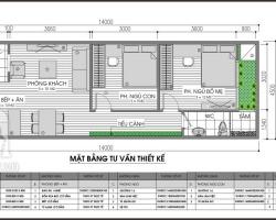 Thiết kế nhà 1 tầng, 63m2 cho gia đình 3 người
