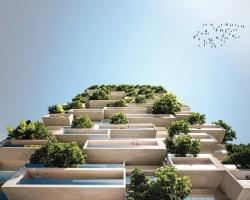 Tòa nhà xanh cao 117m ở Thụy Sĩ giúp lọc bụi, tiếng ồn