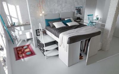 Giường ngủ kết hợp tủ đồ- giải pháp hoàn hảo cho phòng hẹp