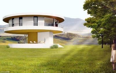 Ngôi nhà tự xoay 360 độ đón ánh nắng mặt trời
